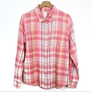 J Crew | The Perfect Shirt Pink Plaid Size 12